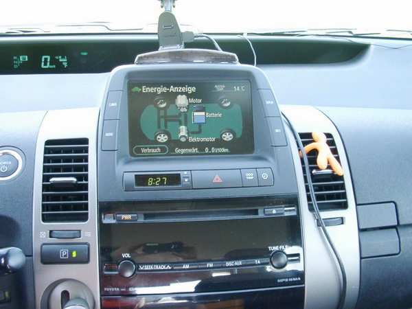 Amaturenbrett/Dashboard des Prius II